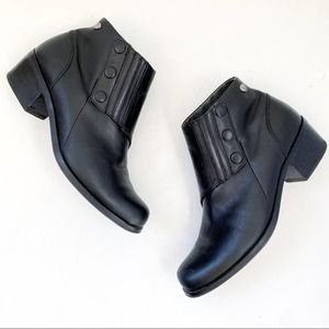 Ariat Side Snap Ankle Boots Black Leather 96305